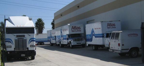 Trucks In Yard_595x275 Pasadena Moving U0026 Storage ...